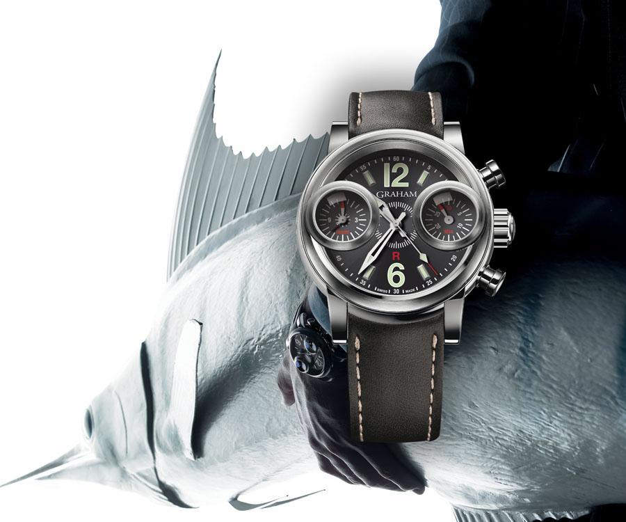 重現不滅經典 GRAHAM格林漢劍魚復刻計時限量腕錶