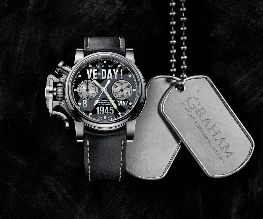 GRAHAM格林漢VE-DAY戰機復古限量腕錶