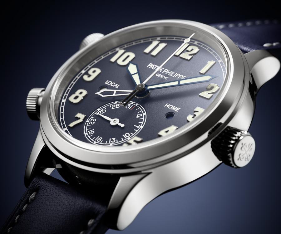 全新百達翡麗Calatrava飛行員兩地時間腕錶7234G-001