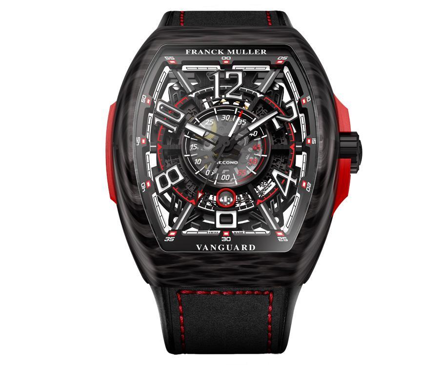 FRANCK MULLER Racing鏤空碳纖維腕錶