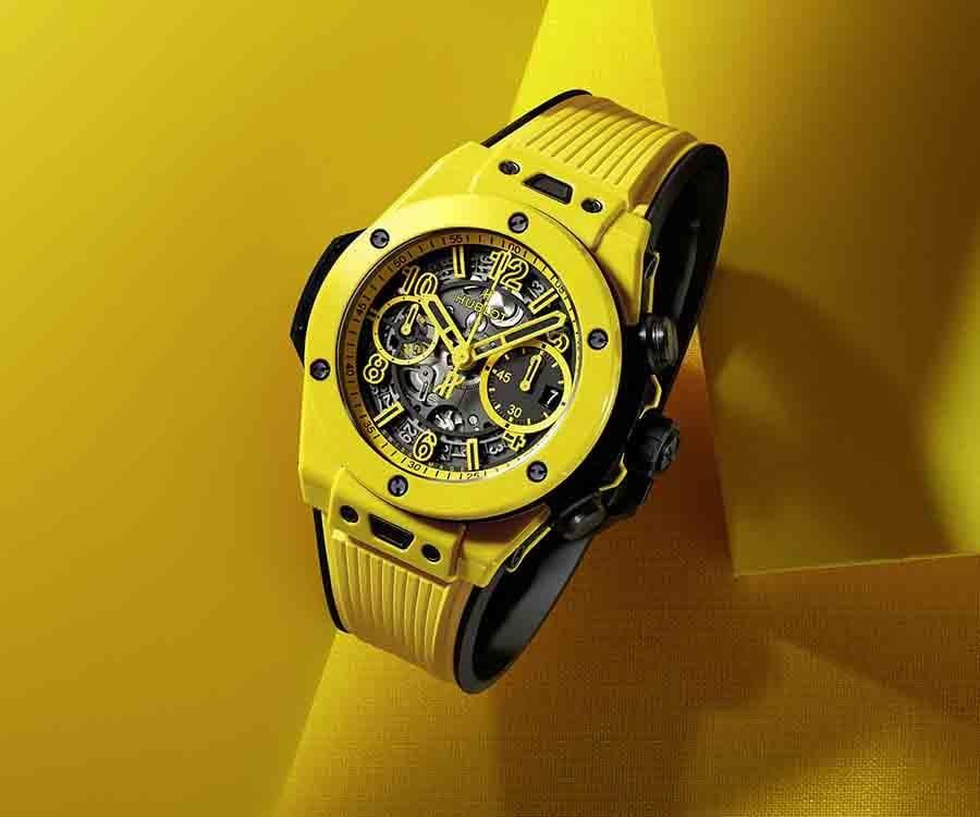 HUBLOT Big Bang Unico魔力黃陶瓷計時碼錶
