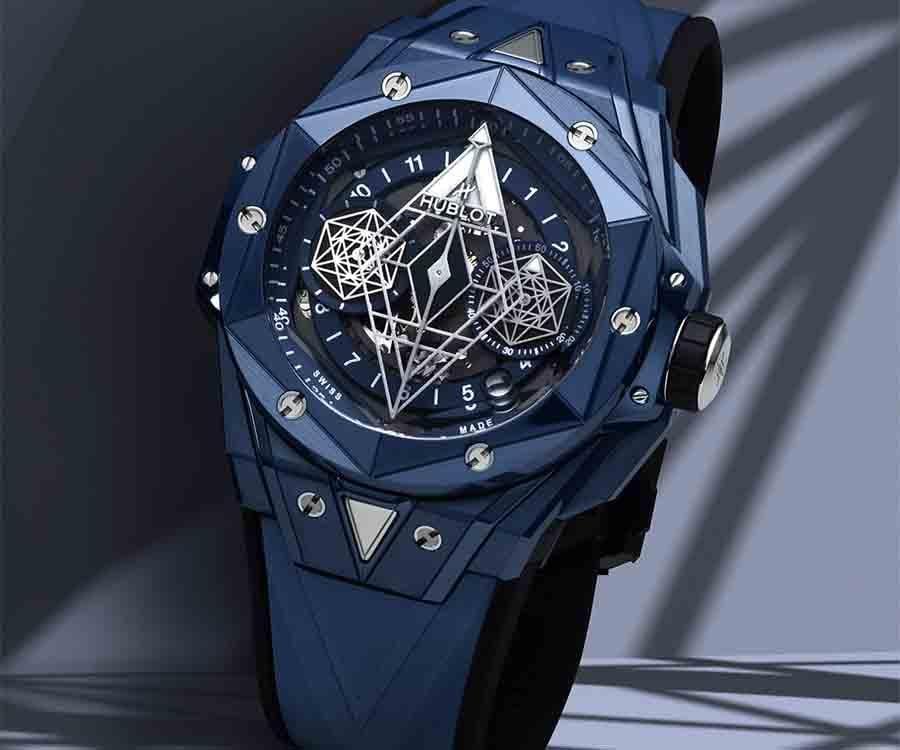 HUBLOT Big Bang Sang Bleu II 亮彩陶瓷計時碼錶藍色陶瓷款