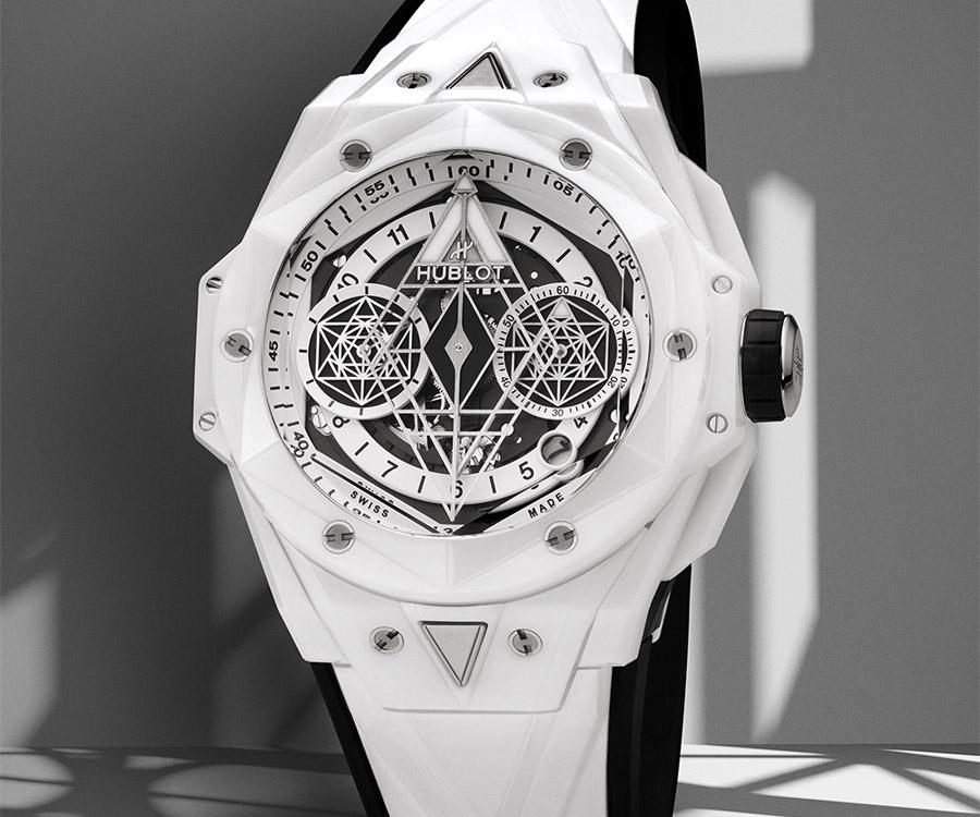 Big Bang Sang Bleu II 亮彩陶瓷計時碼錶白色陶瓷款