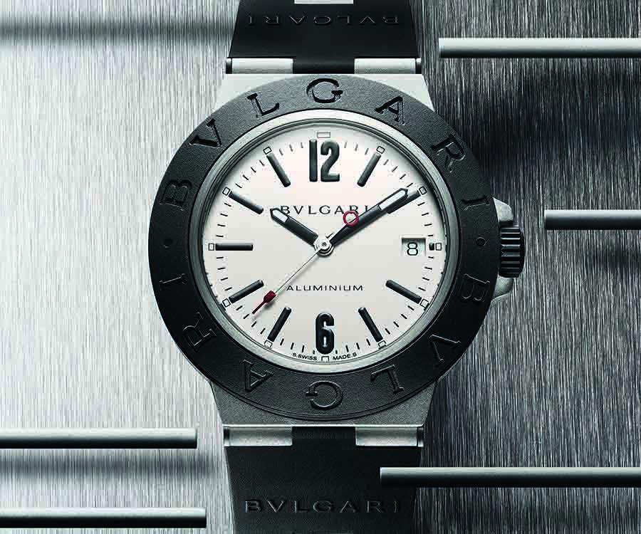 Aluminium系列鋁金屬白色錶盤自動腕錶