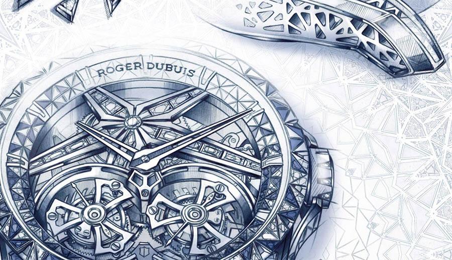 羅杰杜彼Excalibur Superbia鏤空雙飛行陀飛輪超級腕錶