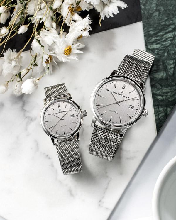 寶齊萊愛德瑪爾系列腕錶,直徑39mm或31mm不鏽鋼錶殼/時、分、秒、日期指示/CFB 1950自動上鍊機芯,動力儲存 38 小時/藍寶石水晶鏡面、透明底蓋/防水30米