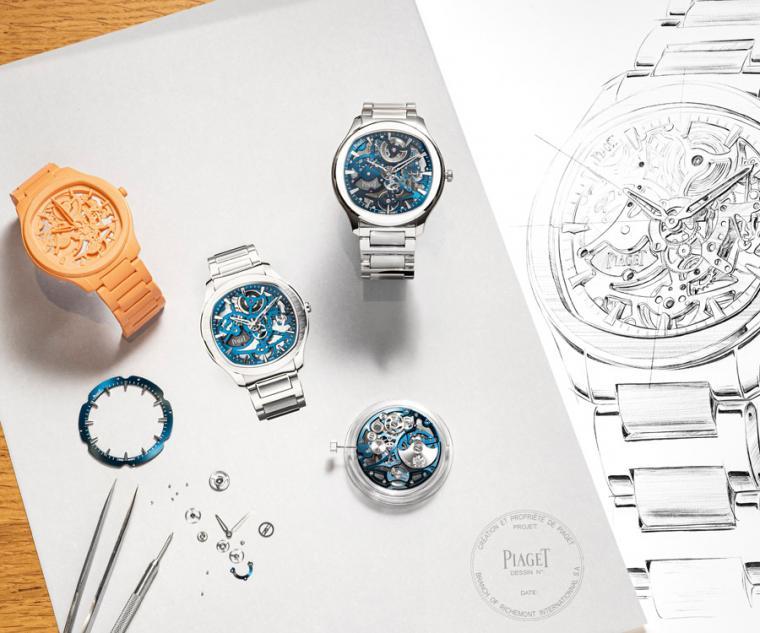 伯爵PIAGET Polo系列伯爵藍鏤空超薄精鋼腕錶,型號:G0A45004/直徑42mm,精鋼錶殼/時間指示/伯爵製1200S型自動上鍊鏤空機芯,動力儲存44小時/藍寶石水晶鏡面及透明底蓋