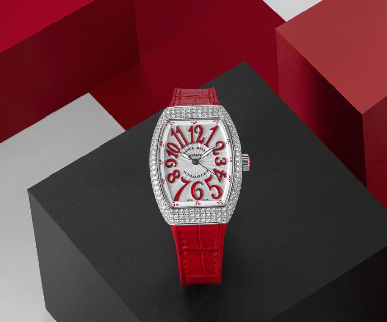 FRANCK MULLER V32 Vanguard Lady白K金鑽錶。