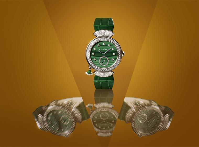直徑37mm白K金錶殼、錶款鑲鑽/時間指示、三問報時/BVL362手動上鍊機芯/藍寶石水晶鏡面、透明底蓋/防水30米/限量10只