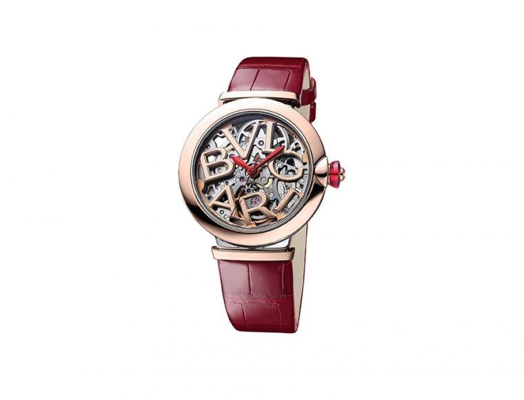 直徑33mm精鋼與玫瑰金錶殼、錶款鑲鑽/時間指示/BVL 191SK自動上鍊機芯/藍寶石水晶鏡面/防水50米